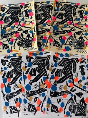 Stab You, Stab Me: RAE BK Linocut Prints