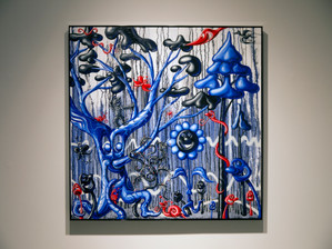 The Raul Review: Kenny Scharf's Blue Blood at TOTAH