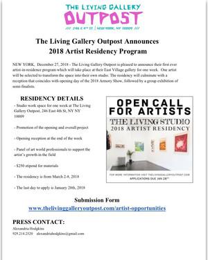 The Living Gallery: 2018 Artist Residency Program