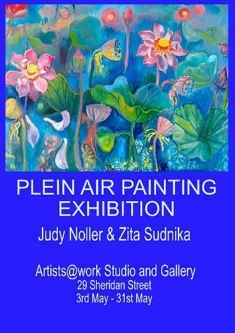 Plein Air Exhibition poster - Judy & Zit