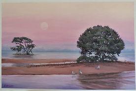Lorraine Amadio - Moonrise over Mangrove