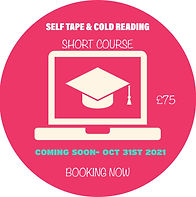 Self Tape & Cold Reading- Short Course- Booking Now