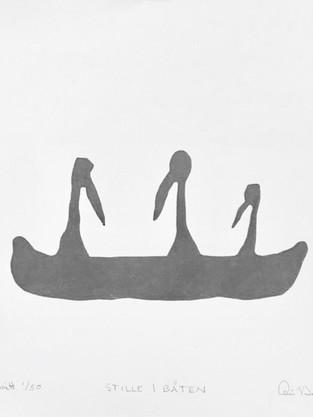 Stille i båten , tresnitt