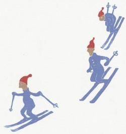 På ski