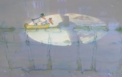 Bertil og Bettina i fontenen