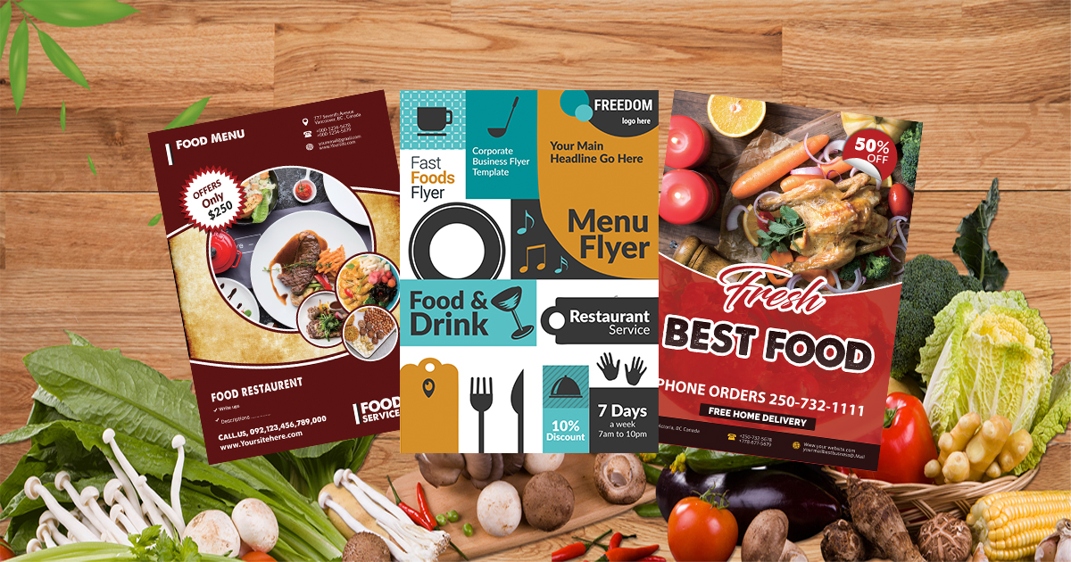 Food Menus&Flyers Website MockUp