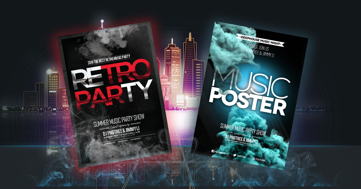 Music Posters Website Mockups