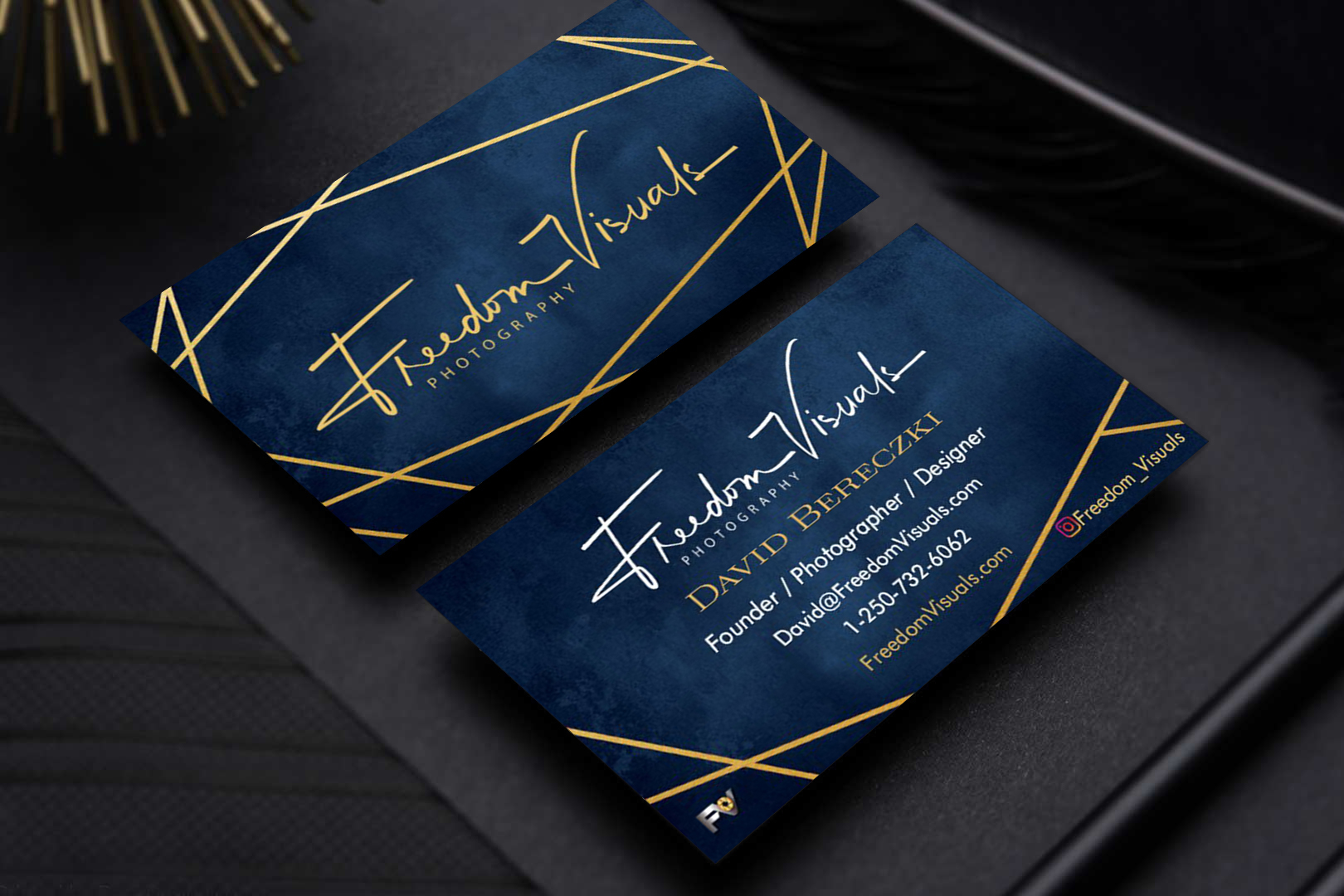 FV Business Card Mock Up - Front and Bac