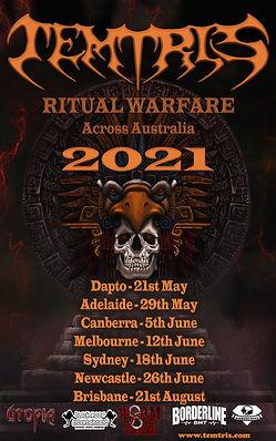 Temtris   Ritual Warfare   Tour Poster 1
