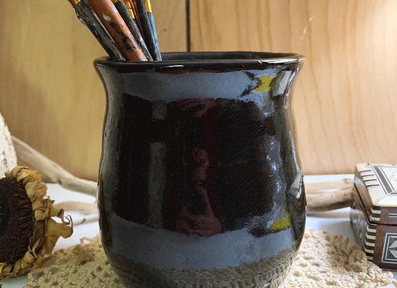Black Wheel Thrown Pot