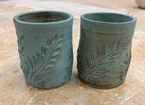 Pair of Hand Carved cups