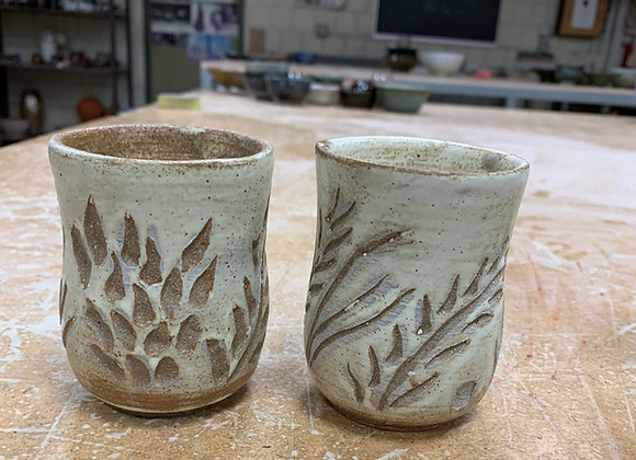 Pair of Hand-Carved cups