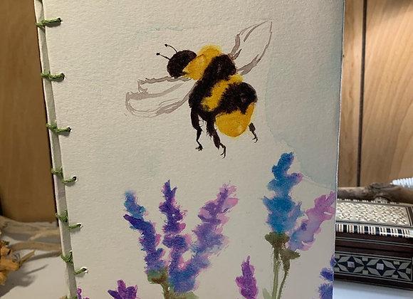 Handmade Bee & Lavender Journal