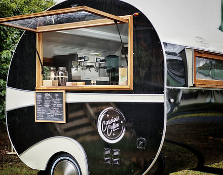 Vintage style coffee caravan for markets, weddings, openings and gala evens.