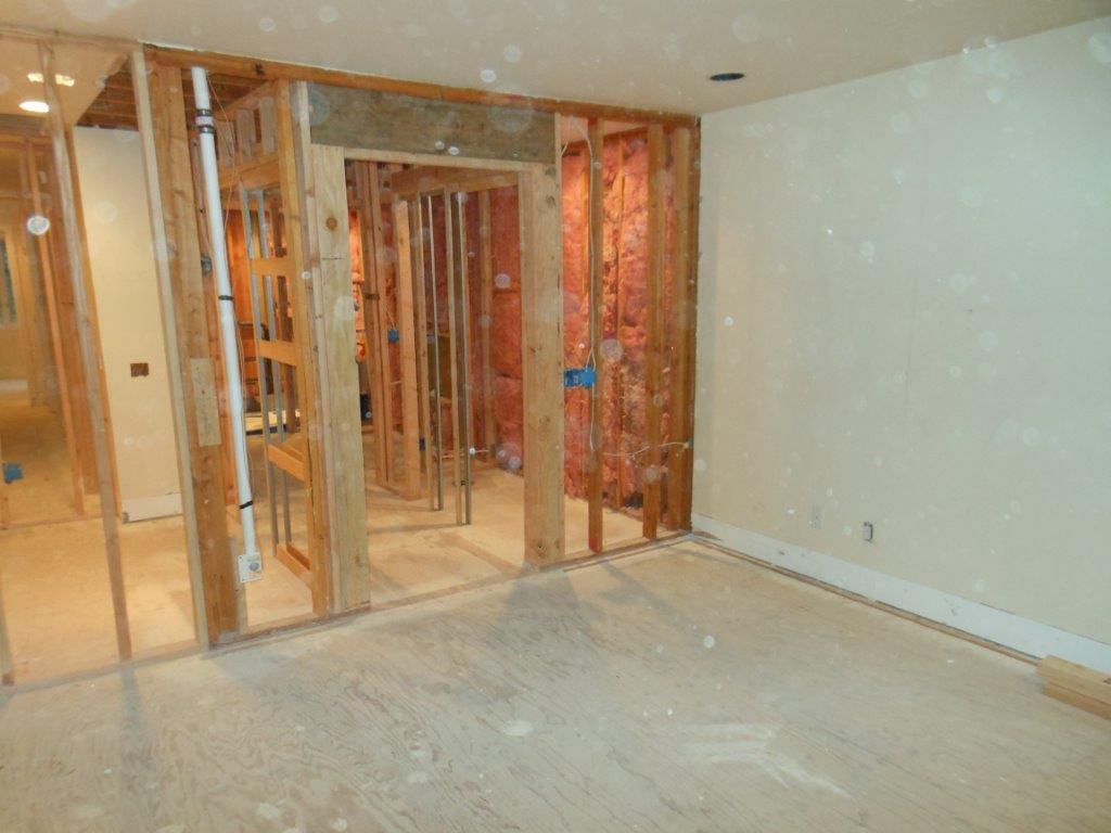 master bedroom in progress