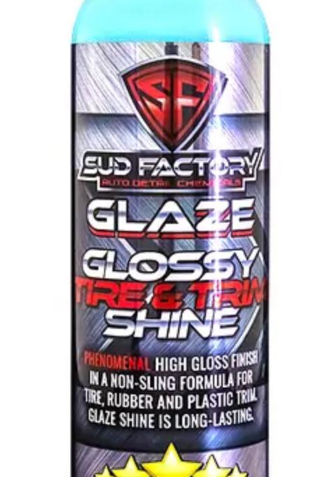 Glaze Glossy Tire & Trim Deep Black Restorer Non-Sling