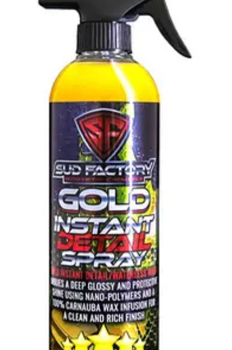 Gold Hybrid High Gloss Sealant Polysiloxane Infused Wax Quick Detailer