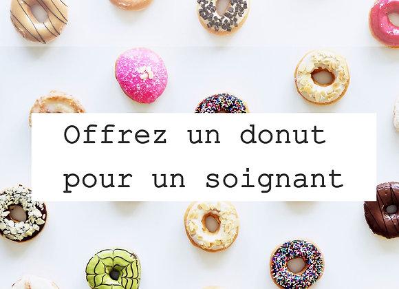 Un donut pour un soignant.