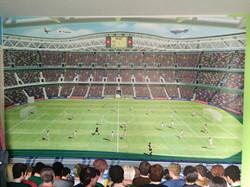 Scenic wallpaper-football stadium