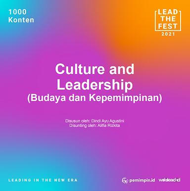 Culture and  Leadership (Budaya dan Kepemimpinan)