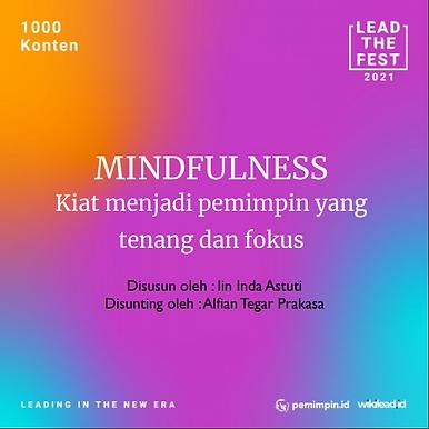 MINDFULNESS  Kiat menjadi pemimpin yang  tenang dan fokus