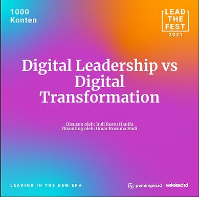 Digital Leadership vs  Digital  Transformation
