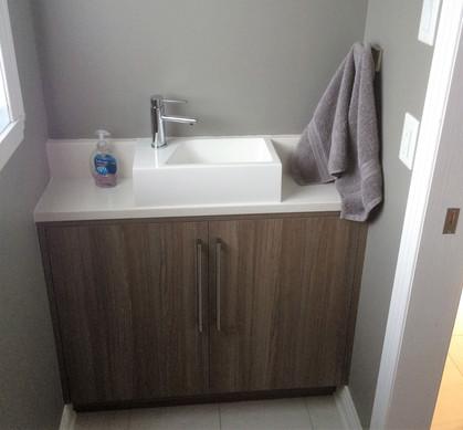 meuble lavabo mélamine