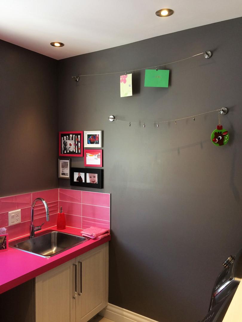 salle de lavage design sur mesure