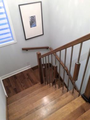 escalier bois coloration