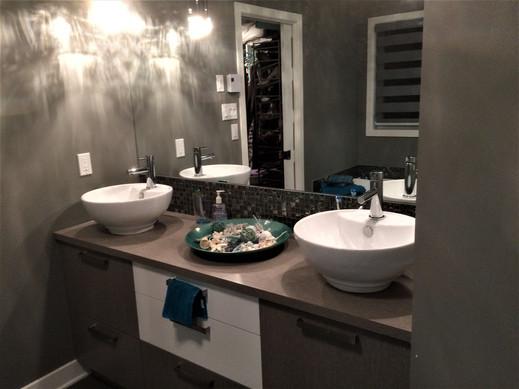 meuble lavabo double