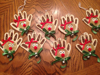 Salt Dough Reindeers