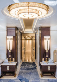 Superyacht ceiling lamps