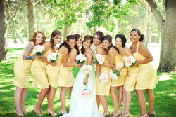 Bride and Hens