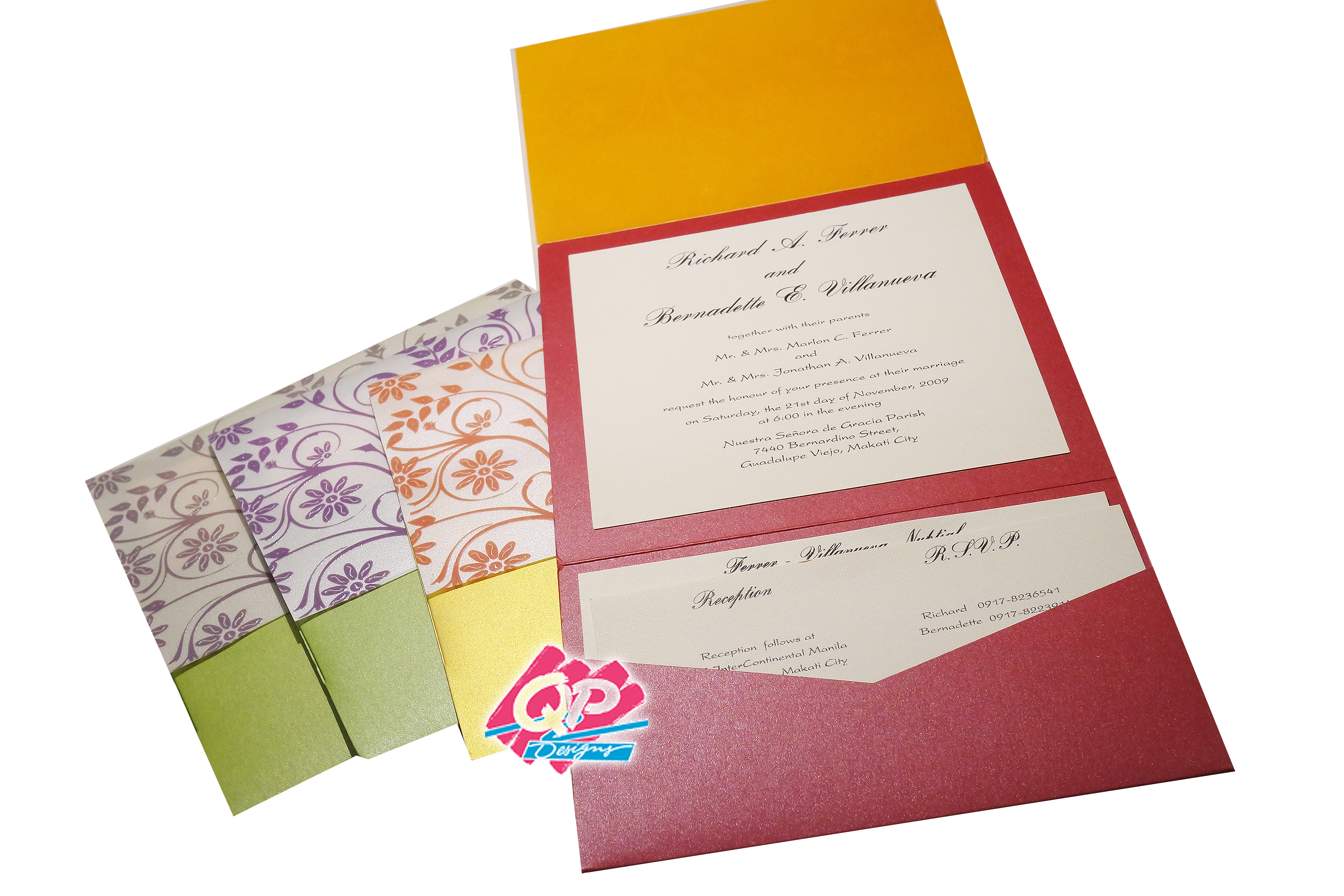 "#3 Pocket Invites - ""Lined w/ Love"""
