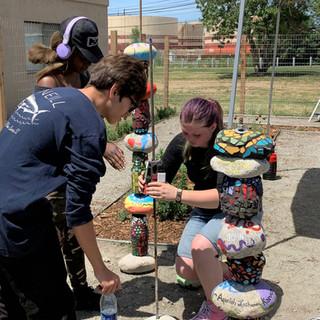 Sun Valley Art install community garden.