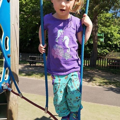 Children's pocket jogger pants choose your fabric up to 12years