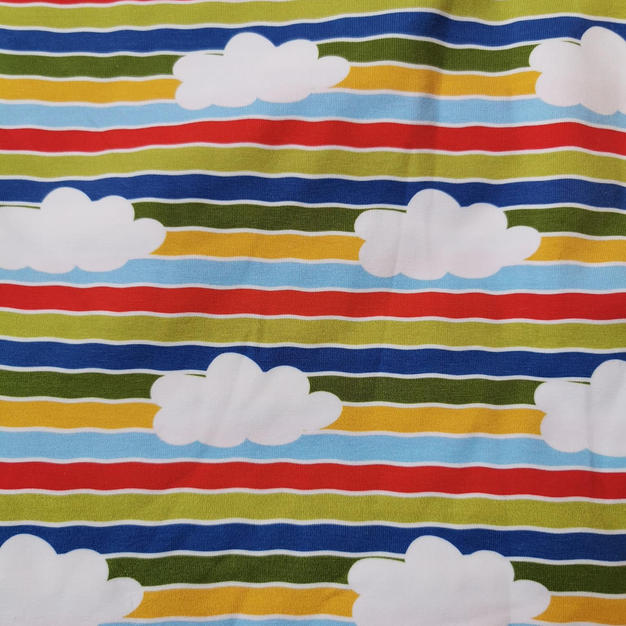Fluffy cloud stripes