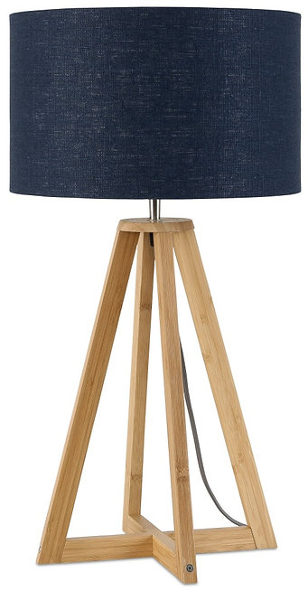 EVEREST table lamp w/blue denim shade