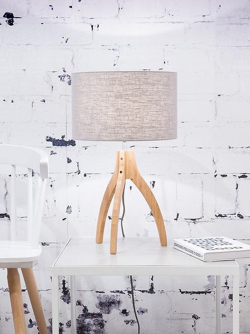 ANNAPURNA table lamp w/light grey shade