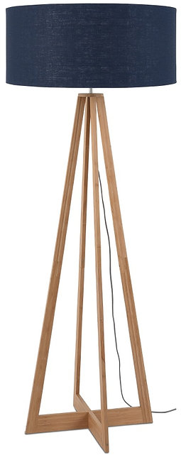 EVEREST floor lamp w/blue denim shade