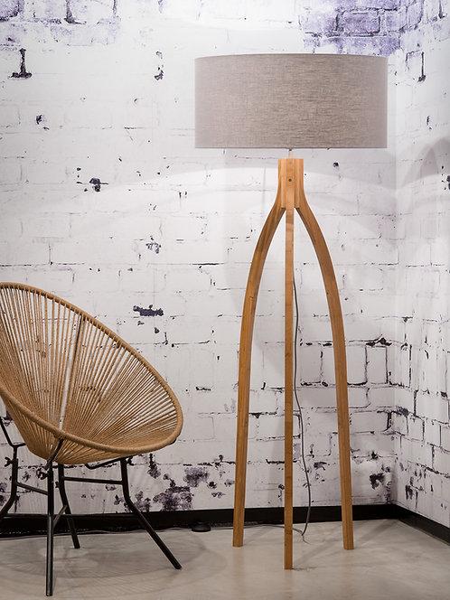 ANNAPURNA floor lamp w/light grey shade