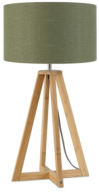 EVEREST table lamp w/forest green shade
