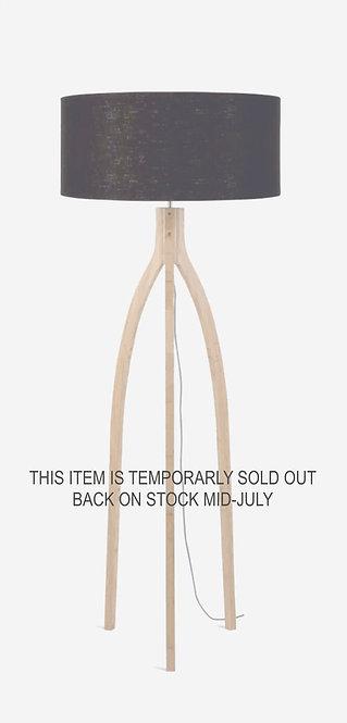 ANNAPURNA floor lamp w/black shade