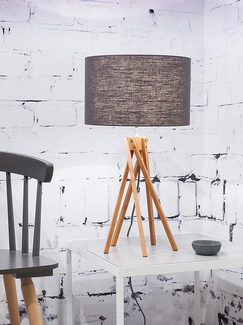 KILIMANJARO table lamp bamboo, dark grey shade
