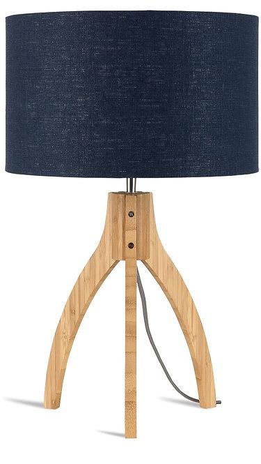 ANNAPURNA table lamp w/blue denim shade