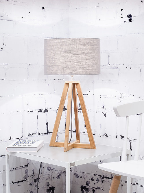 EVEREST table lamp w/light grey shade
