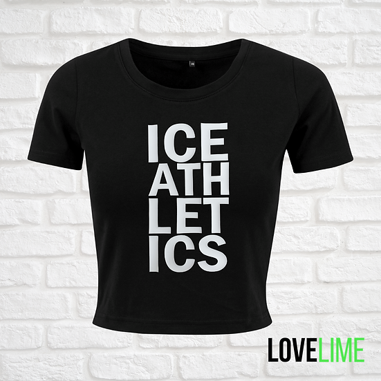 ICE Athletics black cropped Tee