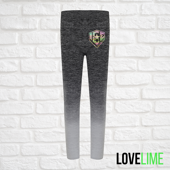 Kids Grey Ombre Leggings