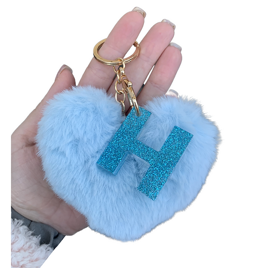 Initial Heart Keyring