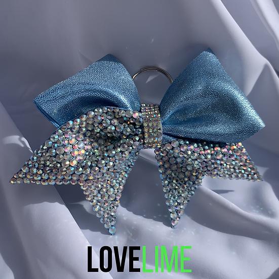 Baby Blue Princess Bow Keyring